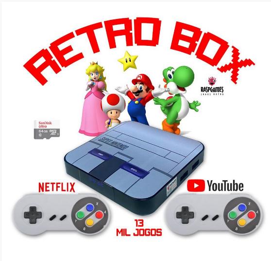 Retro Box Super  c/ 13 mil jogos