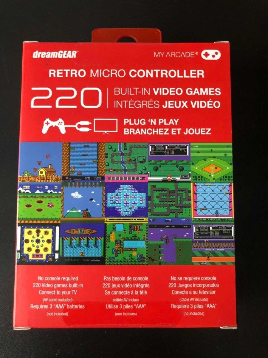 Retro micro controle c/ 220 jogos