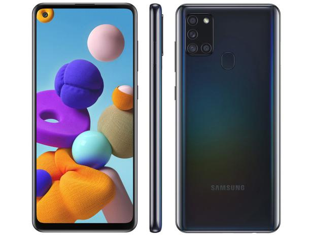 Celular Samsung A21S 64GB Preto