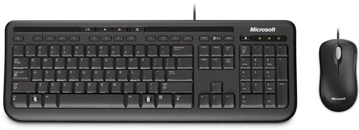 Teclado e mouse com fio 3J200006 - Microsoft