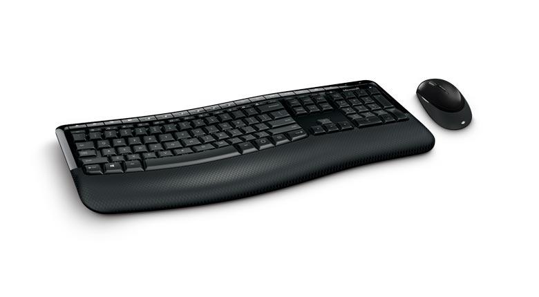 Teclado e Mouse sem fio Desktop 5050 Preto - PP4-00005