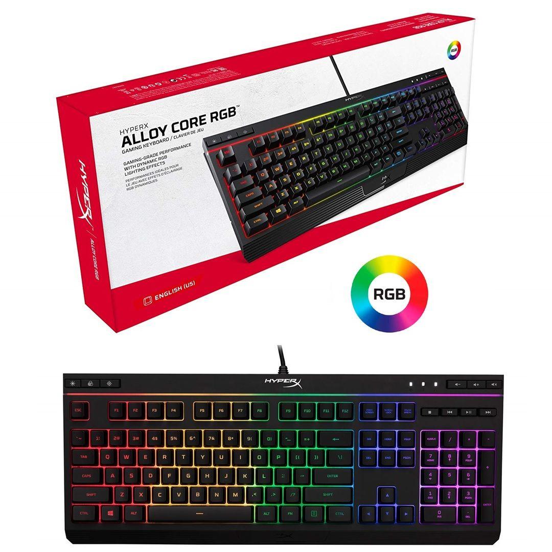 Teclado USB Gamer HyperX Alloy Core RGB ABNT2 HX-KB5ME2