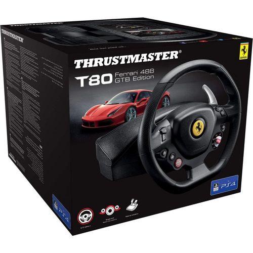 Volante thrustmaster t80 ferrari 488 gtb racing wheel ps4/pc