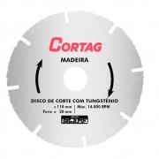 Disco de Corte Tungstênio Segmentado p/ Madeira 110mm x 20mm Cortag