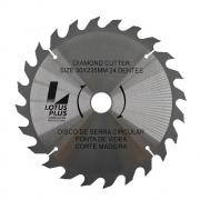 Disco Lâmina de Serra Vídea para Madeira 20mm x 230mm 24 Dentes Lotus 3193