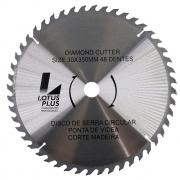 Disco Lâmina de Serra Vídea para Madeira 30mm x 350mm 48 Dentes Lotus 5828