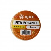 Fita Isolante 19mm 5m Ajax Branco