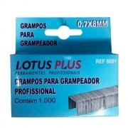 Grampo para Grampeador Profissional 8mm 1000un  Lotus