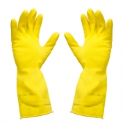 Luva Látex Antiderrapante Amarela c/ Forro Modelo Top Sanro P