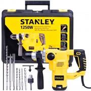 Martelete Perfurador Rompedor SDS Plus 3,5J 3 Modos 1250W 220V com kit de 9 Peças Stanley STHR1232K