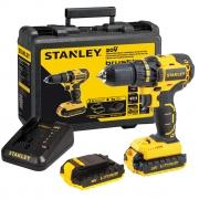 Parafusadeira e Furadeira com 2 Baterias Íons de Lítio Max 20V 1,5AH Brushless Stanley SBD20S2K