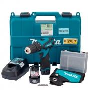 Parafusadeira e Furadeira de Impacto 12V 2 Baterias com Kit Especial Makita HP330DWE