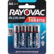 Pilha Alcalina AA Pequena Cartela com 4 Rayovac