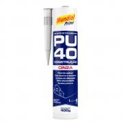 PU40 Selante de Poliuretano 400g Mundial Prime Cinza