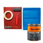 Tinta Parede Lousa & Cor Riscar Giz Azul Pet. 800ml c/ Kit