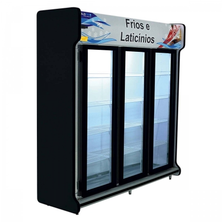 Expositor Vertical 3 Portas De Bebidas 1360 Litros - Polofrio - 220V