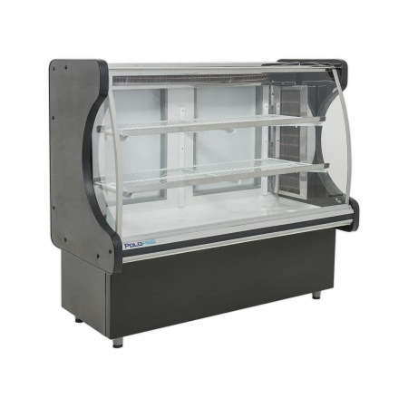 Vitrine Refrigerada Evaporador Vidro Curvo Classic 1,25 Metros - Polofrio - 110V