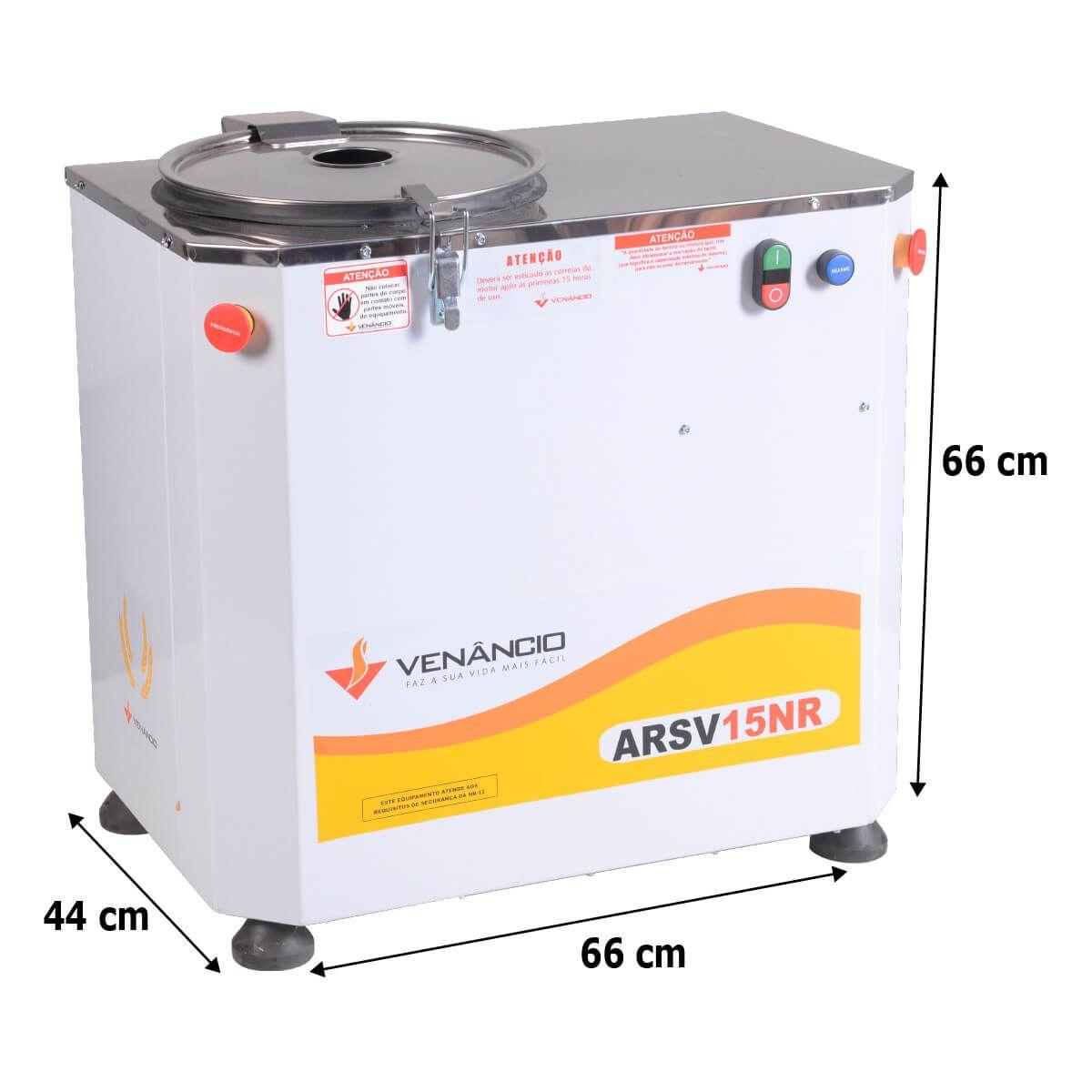 Amassadeira Rápida Elétrica 15 Kg 2Cv Monofásica Arsv15 - Venâncio - 110V