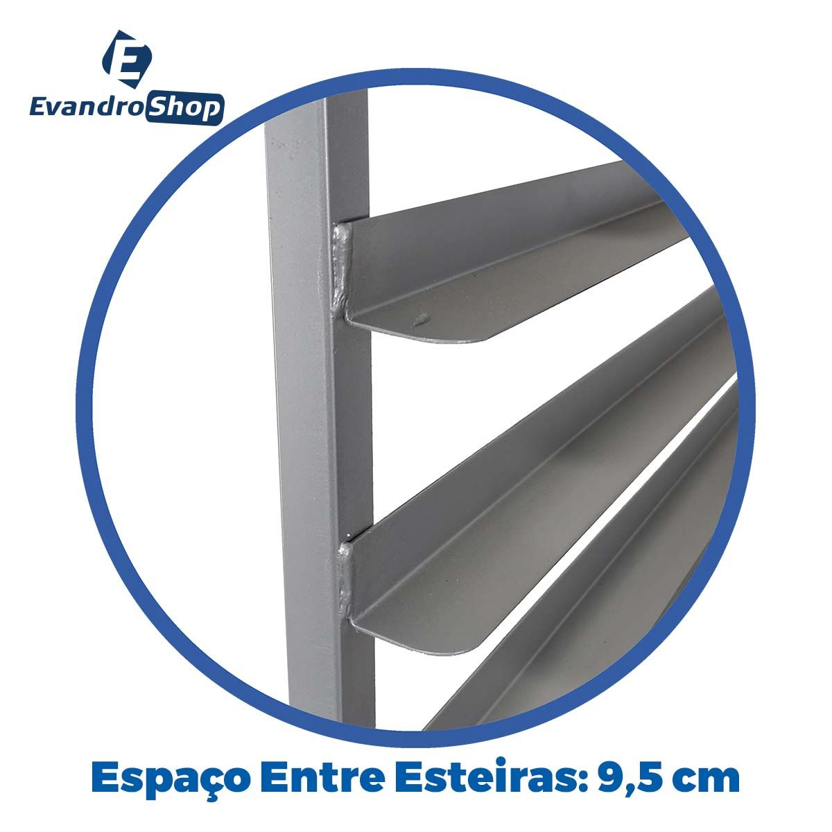 Armário Para Pães 20 Esteiras Alumínio 58X70 Cm A20VZ - Cainco