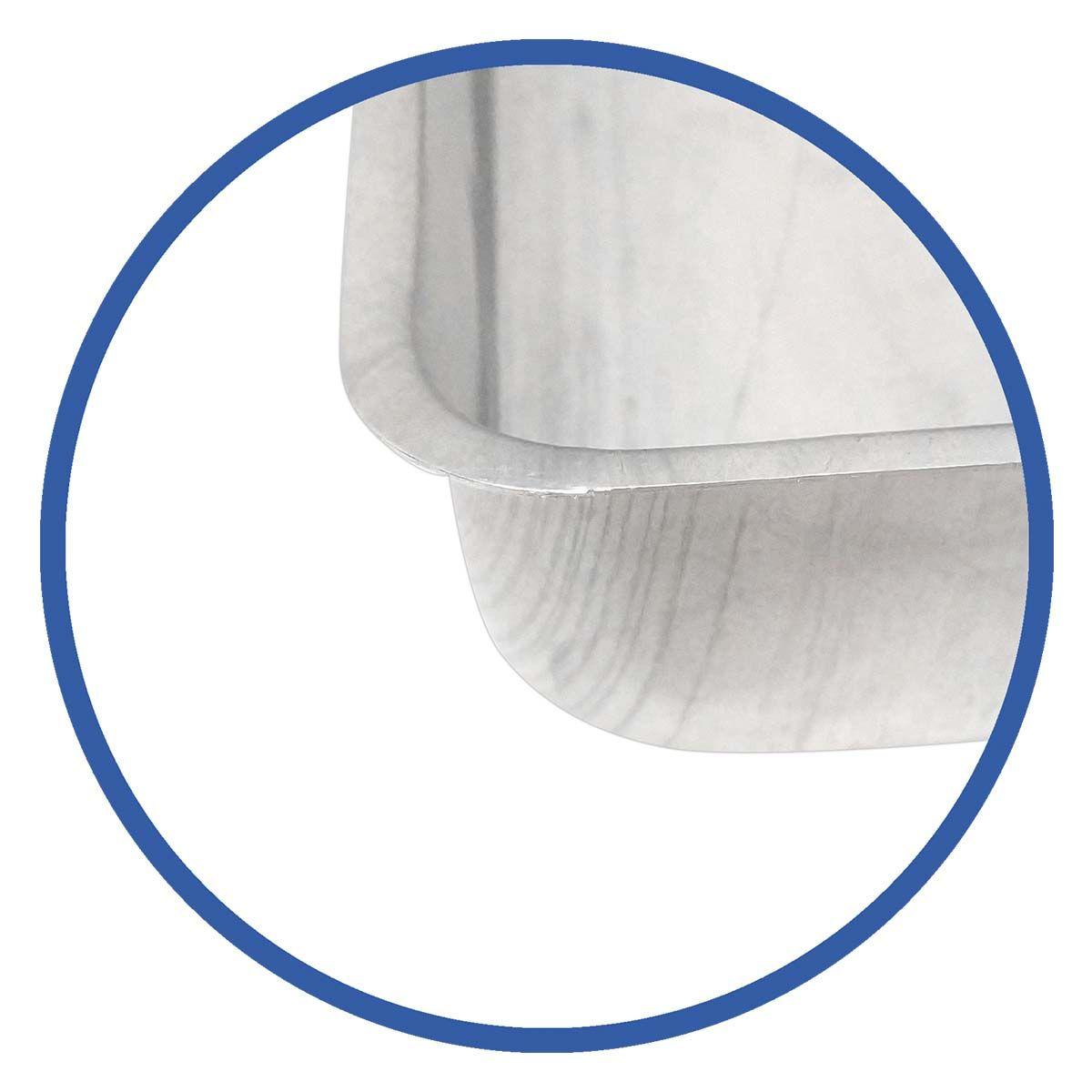 Assadeira De Alumínio Retangular N4 30X43 - Alumínio São Jorge