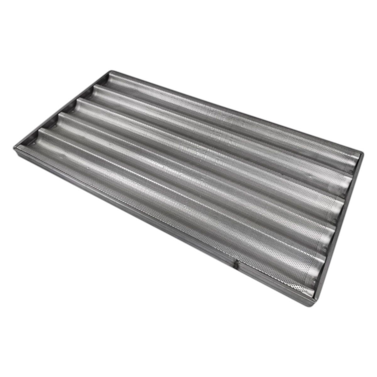 Assadeira De Pão Baguete 40X80 Cm 5 Tiras Alumínio - Cainco