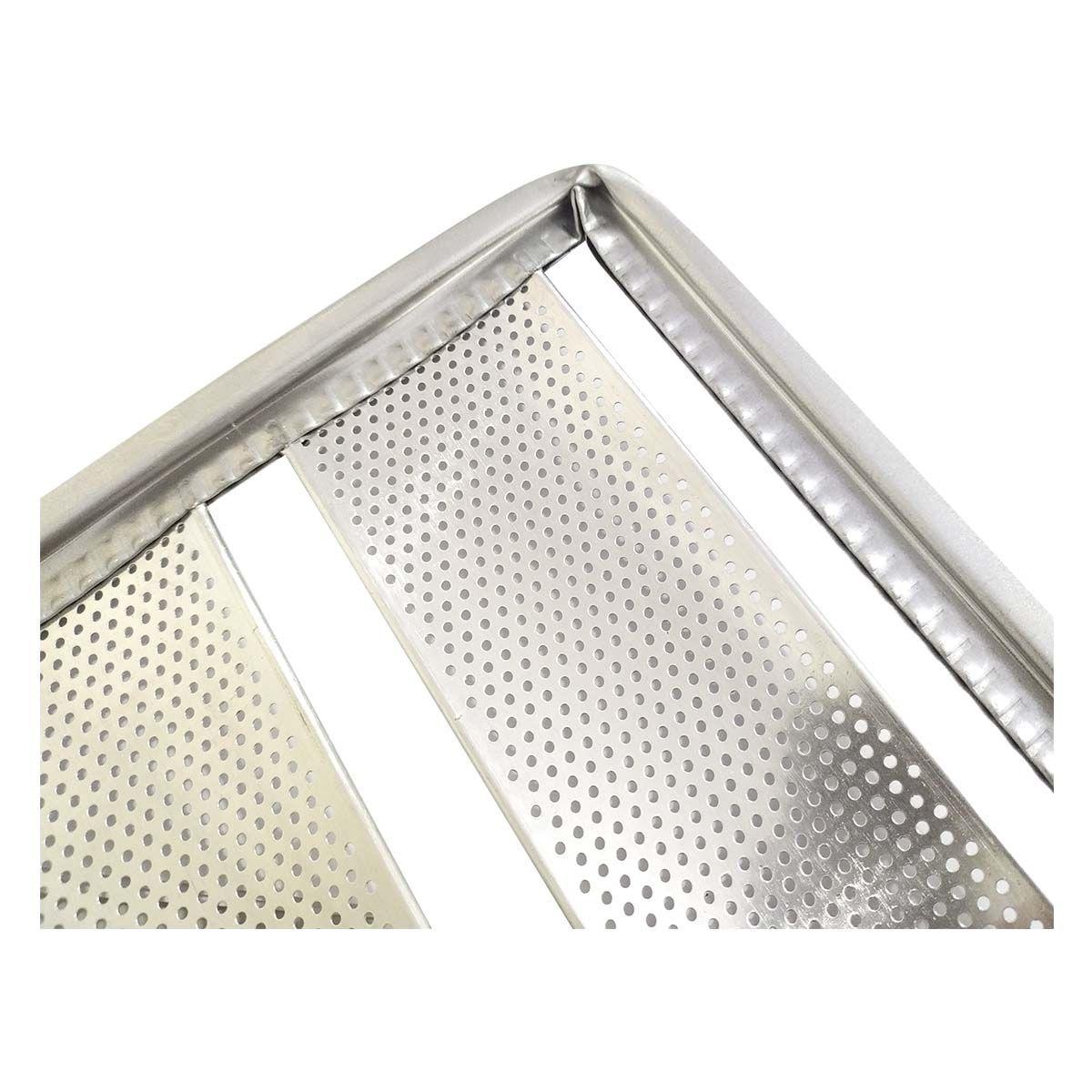 Assadeira De Pão Francês 58x70 Cm 5 Tiras Aluminol - Cainco
