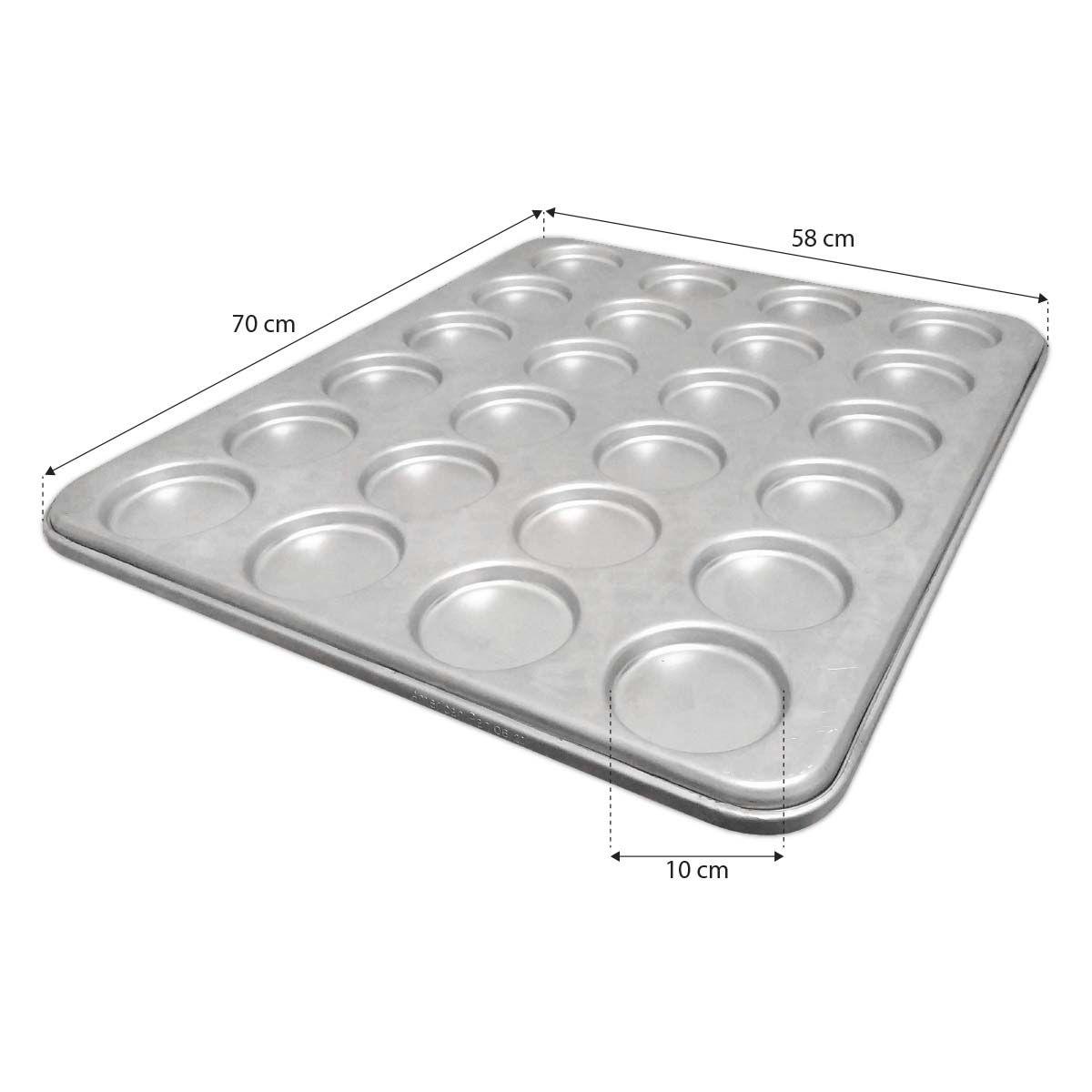 Assadeira Pão De Hamburguer 58X70 Com 24 Cavidades 10X10 - Cainco