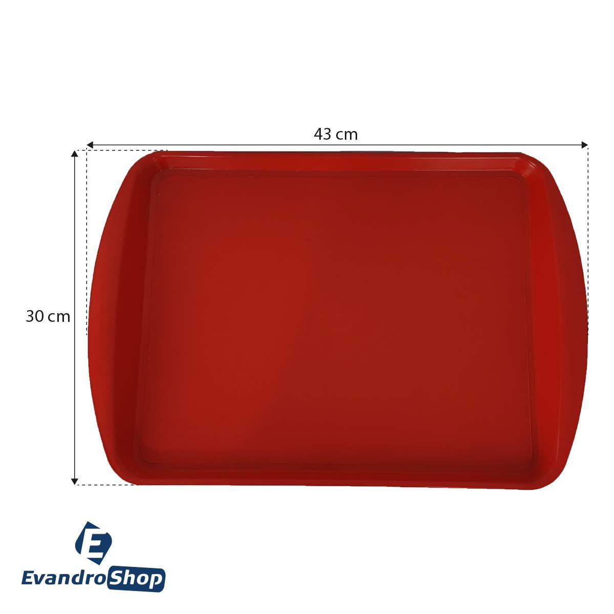Bandeja Plástica Vermelha S-300 - Supercron