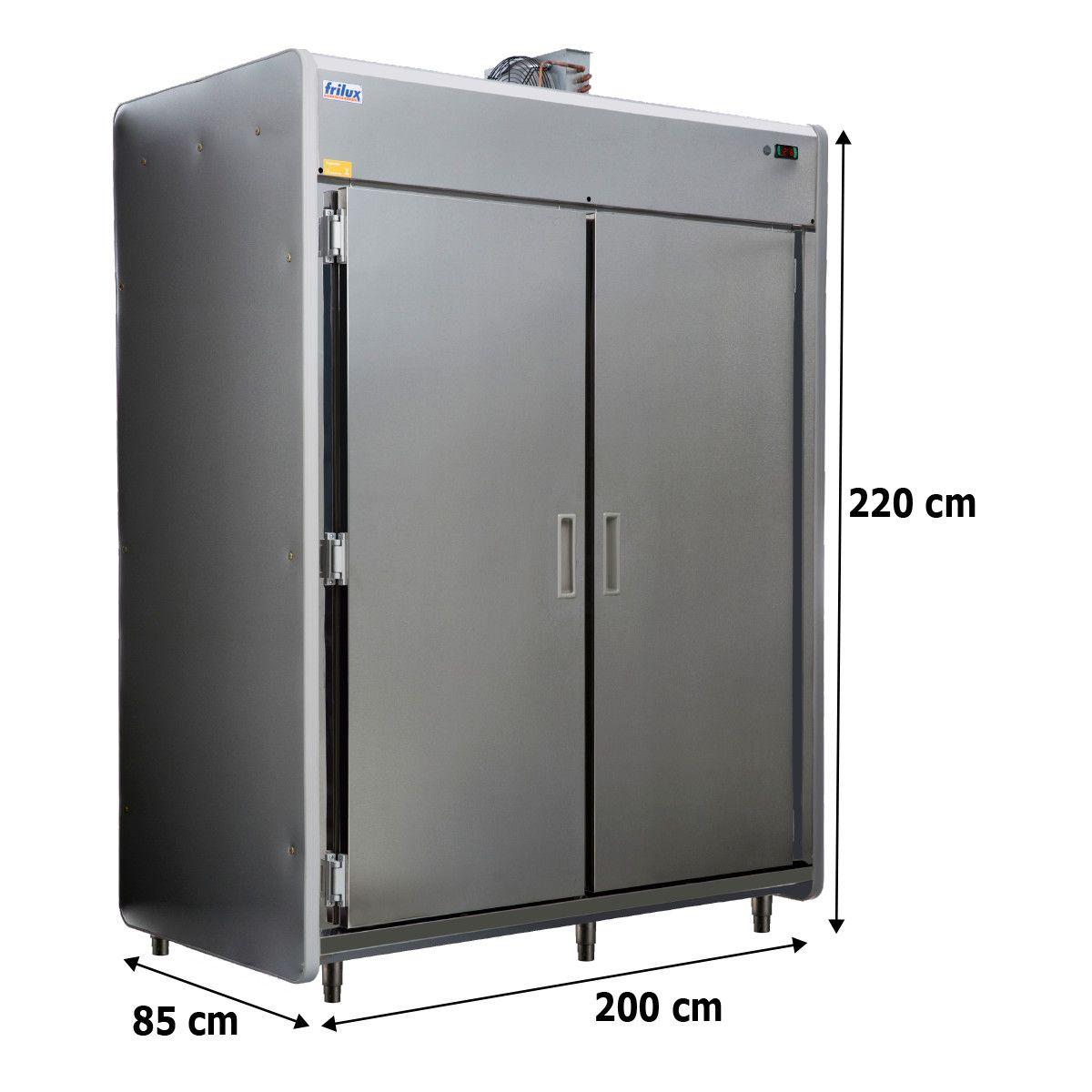 Câmara Fria Para Carnes Em Inox 2 Portas 2400 Litros Rf 056 - Frilux - 220V
