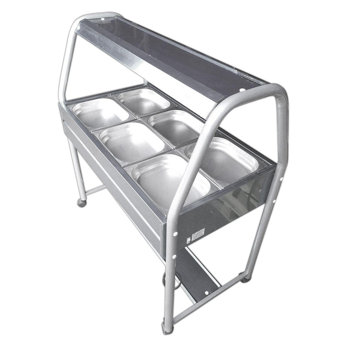 Carrinho Buffet Self Service 6 Cubas Refrigerado - Ibet - 110V