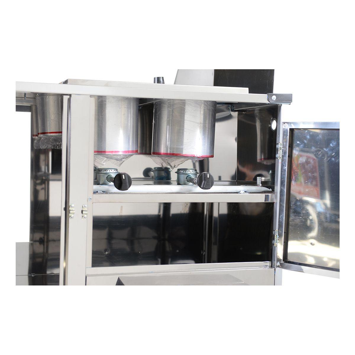 Carrinho De Hot-Dog Luxo 2 Cubas E Chapa L10P/Gs - Cefaz