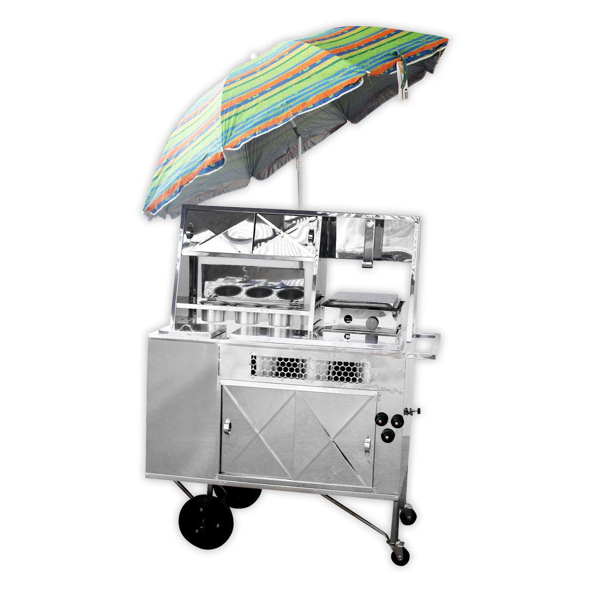 Carrinho Para Fazer Hot Dog C/ Chapa 11407 - R2