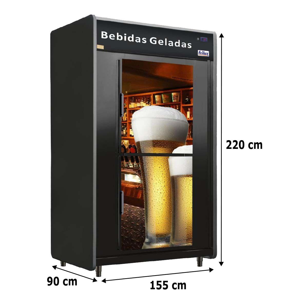 Cervejeira 2 Portas 1800 Litros 720 Garrafas 30 Caixas Rf 055 - Frilux - 220V