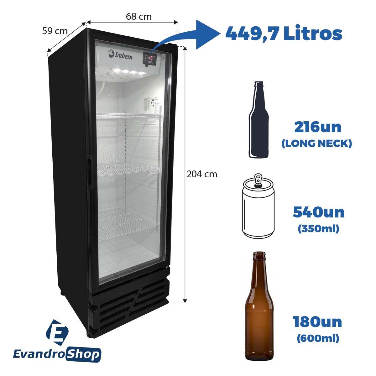 Cervejeira 449,7 Litros Porta De Vidro Food Services 220V CCV315 - Imbera