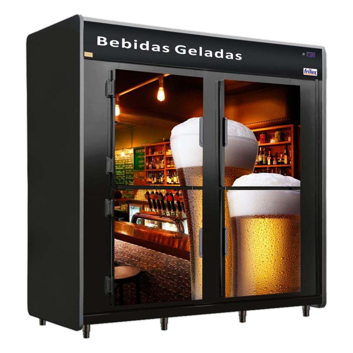 Cervejeira 4 Portas 2400 Litros 936 Garrafas 39 Caixas Rf 057 - Frilux - 220V