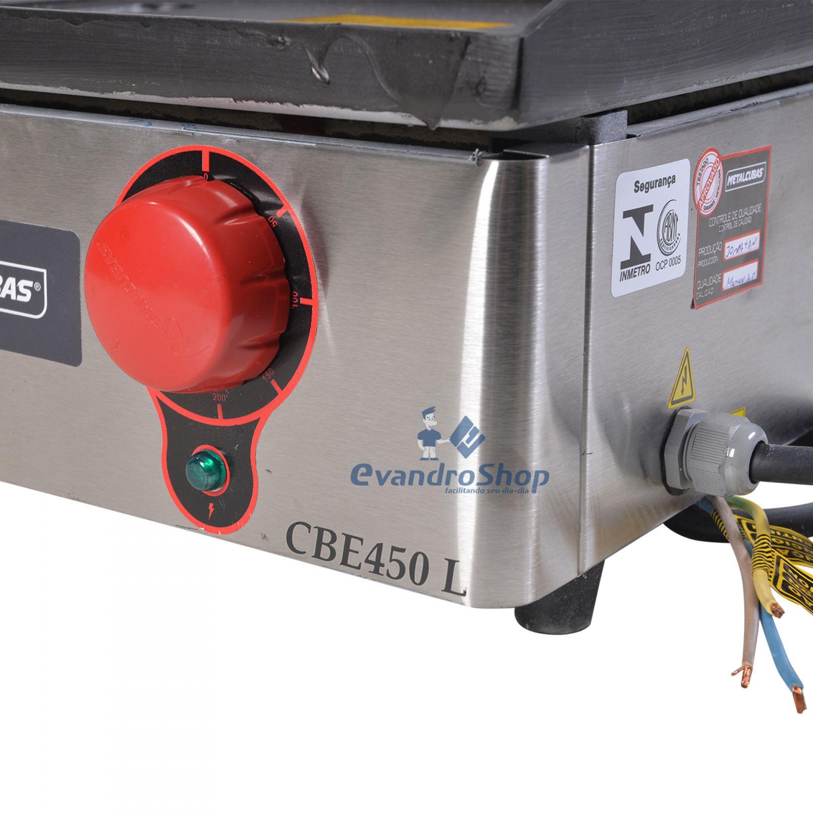 Chapa De Lanche Elétrica 45x45 Cm CBE450L - Metalcubas - 220V