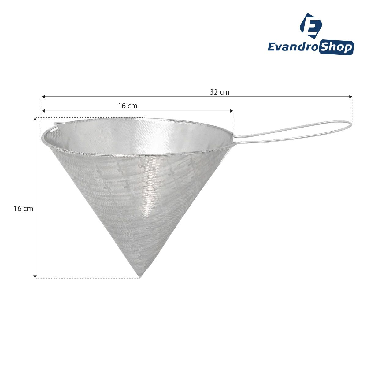 Coador Tipo Funil Aço Inox 304 Perfurado 16x16 - Frigopro