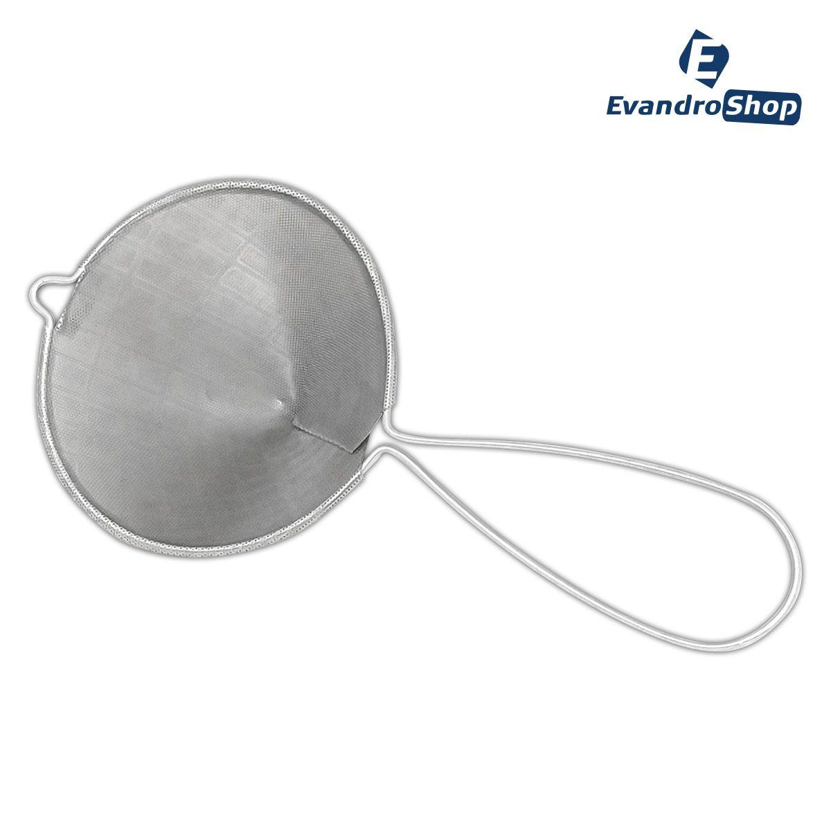 Coador Tipo Funil Aço Inox 304 Perfurado 17x13 - Frigopro