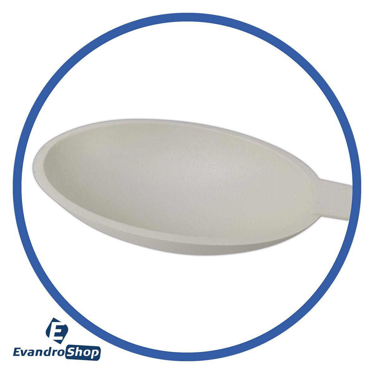 Colher Concova Funda  Em Nylon Branca 100x10 Cm - Solrac