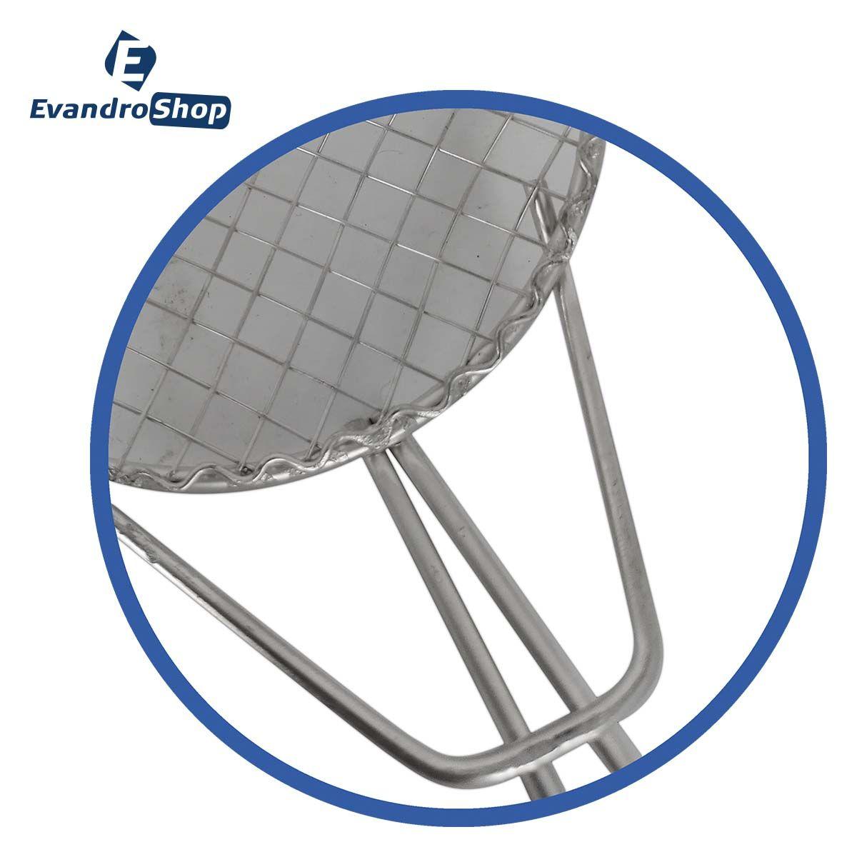 Escumadeira De Fritura N10 Galvanizada - Alemtex