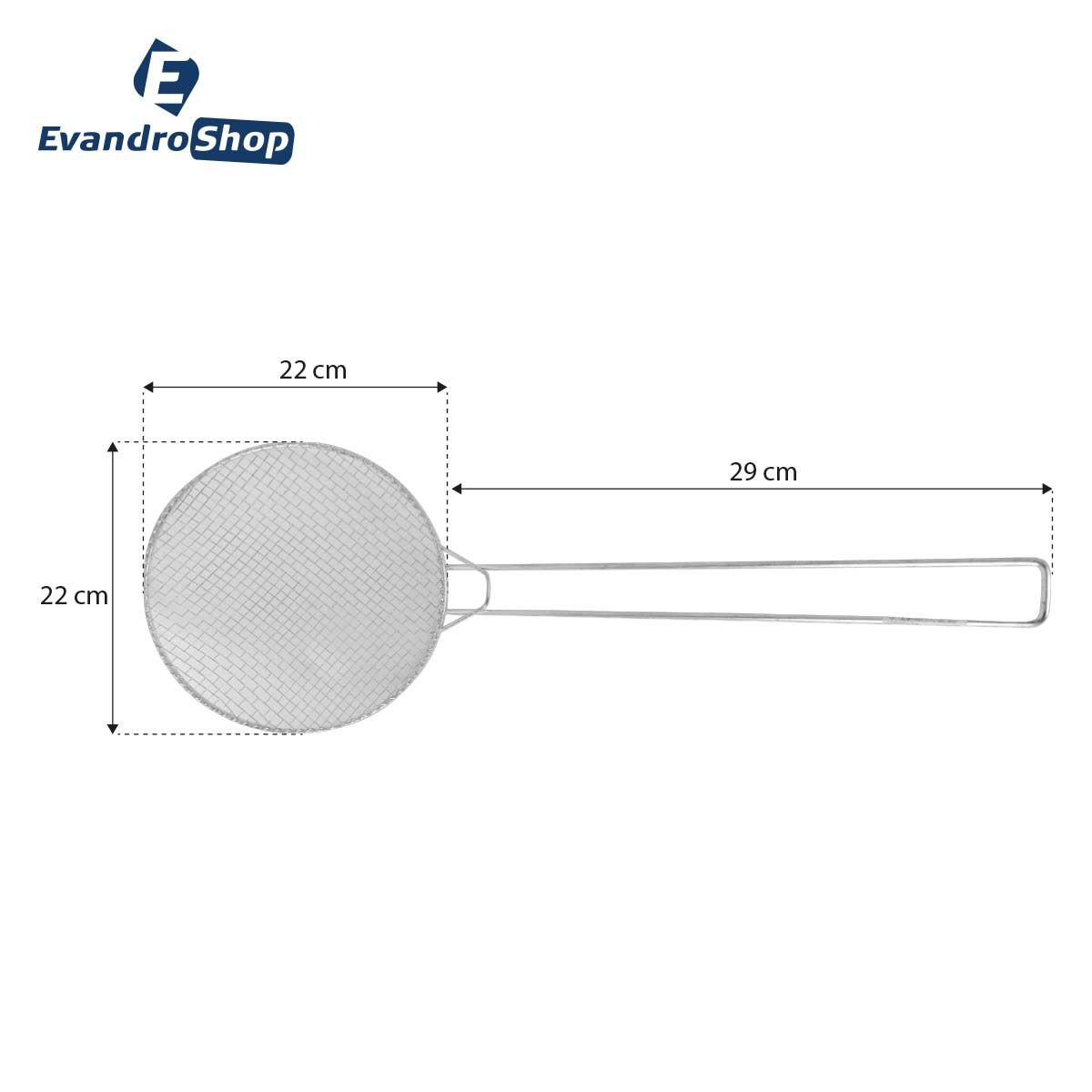 Escumadeira De Fritura N22 Galvanizada - Alemtex