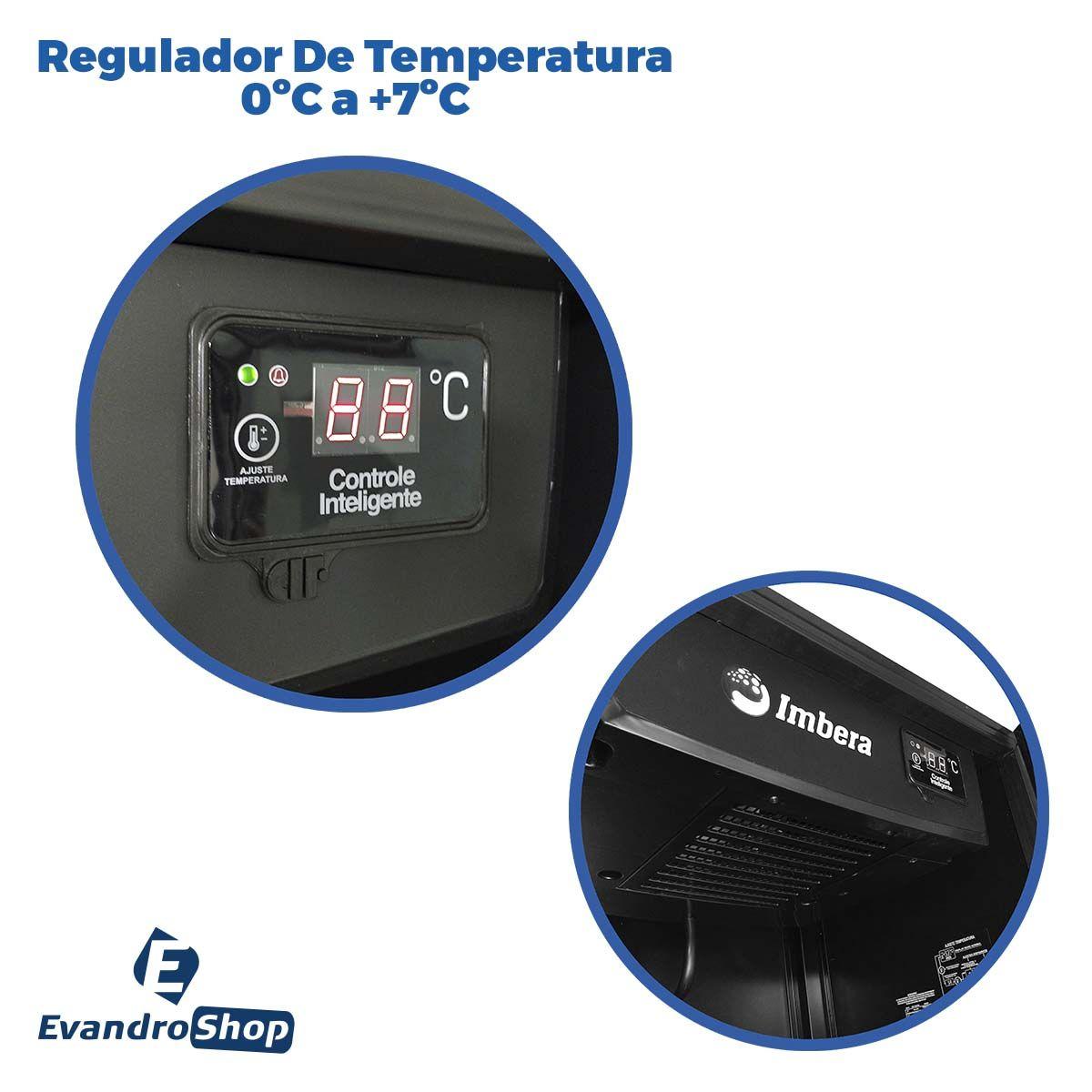 Expositor De Bebidas 449,7 Litros VRS16 Stylus Preto 220V - Imbera