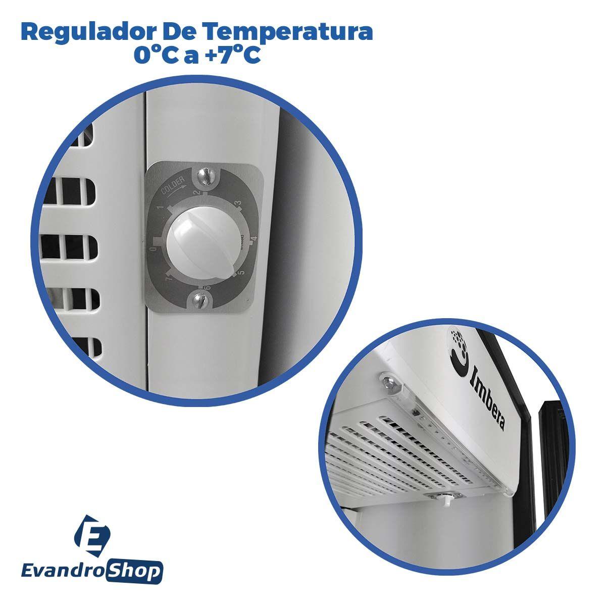 Expositor Vertical 1 Porta De Bebidas 217,8 Litros Com LED VR08 220v - Imbera