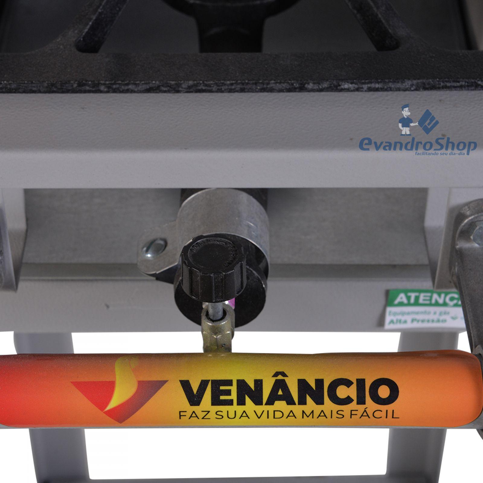 Fogão Industrial 1 Boca Alta Pressão Vulcão VAP1P - Venâncio