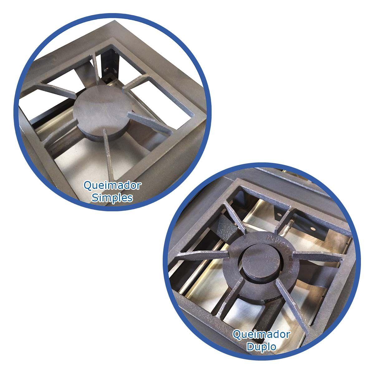 Fogão Industrial 8 Bocas Com 2 Fornos Baixa Pressão A Gás - Invicto Fogões