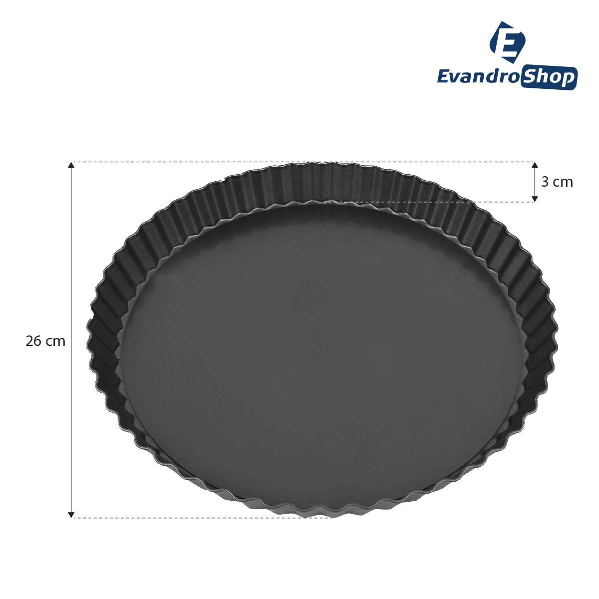 Forma De Torta Com Fundo Removível 26X3 Cm - Nipo