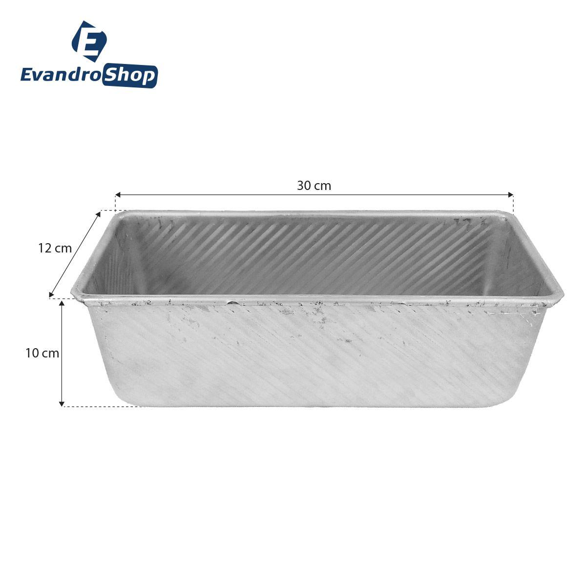 Forma Retangular Pão 30x12x10 Cm - Cainco