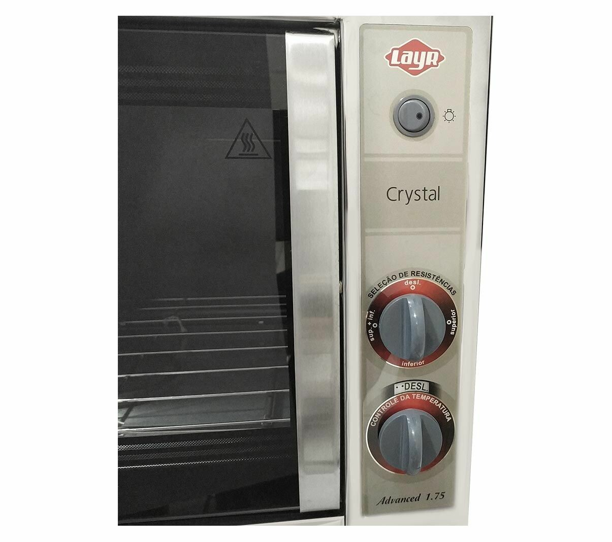 FORNO ELÉTRICO CRYSTAL INOX ADVANCED 1750W - LAYR - 110V