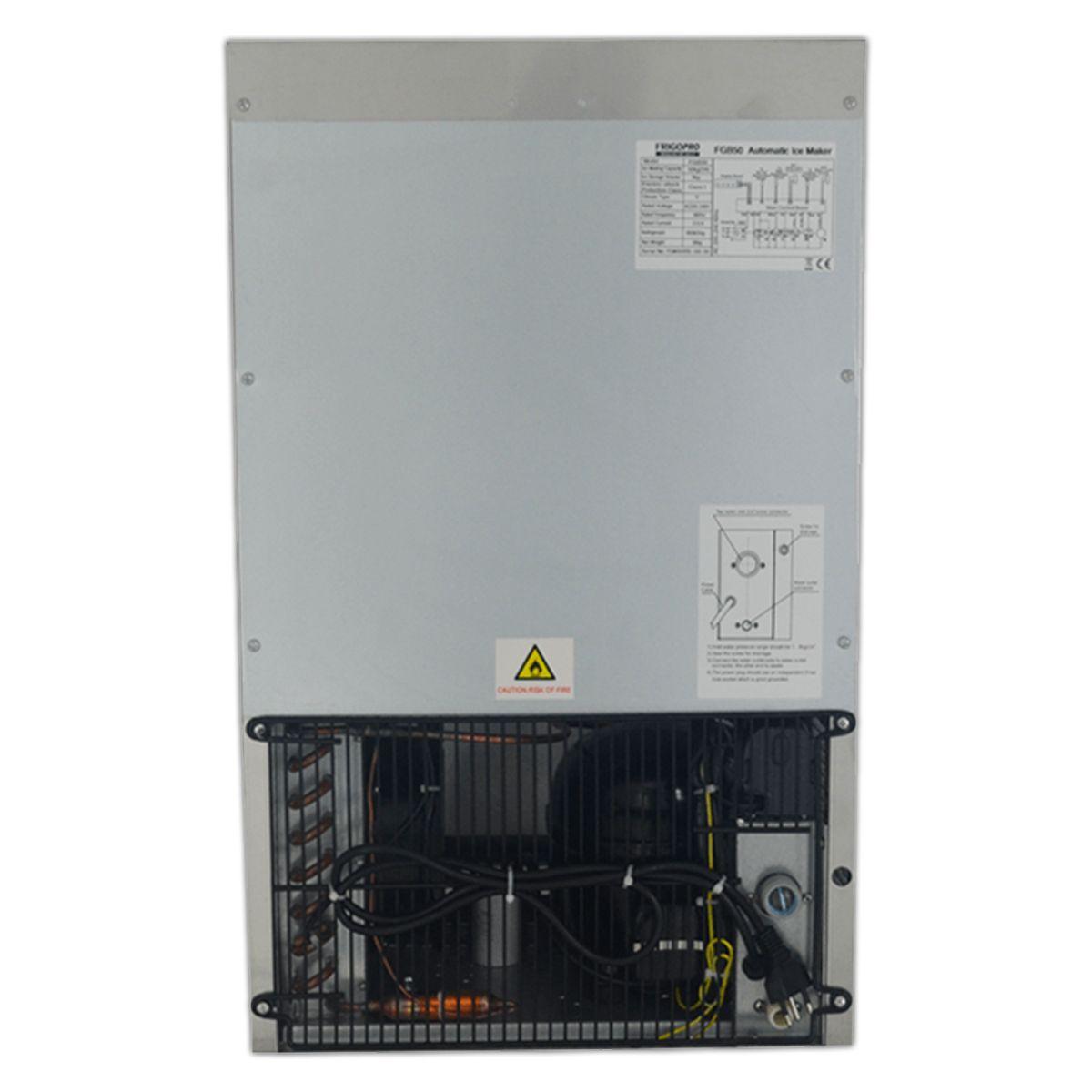 MAQUINA DE GELO 50 LITROS 380W AÇO INOX COM FILTRO FGB50 - FRIGOPRO - 220V