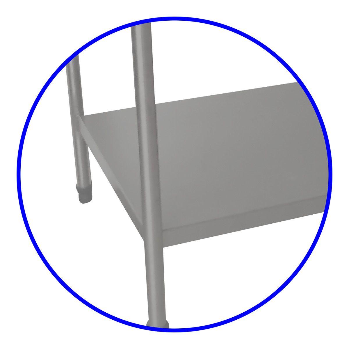 Mesa Industrial 120X70 Em Aço Inox Com Paneleiro Liso - Fritomaq